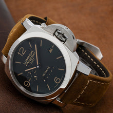 Load image into Gallery viewer, Panerai Luminor 1950 10 Days GMT PAM00533 44MM Black Dial With Calf Skin Bracelet