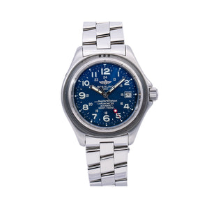 Breitling Superocean A17345 41MM Blue Dial With Stainless Steel Bracelet