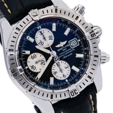 Load image into Gallery viewer, Breitling Chronomat Evolution A13356 44MM Black Dial With Leather Bracelet