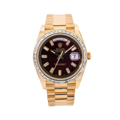 Rolex Day-Date 228238 40MM Red Diamond Dial With 4.75 CT Diamonds