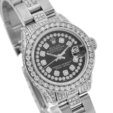 Load image into Gallery viewer, Rolex Lady-Datejust 6917 26MM Black Diamond Dial With 2.75 CT Diamonds