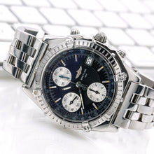 Load image into Gallery viewer, Breitling Chronomat A13050 40.5MM Black Dial With Stainless Steel Bracelet