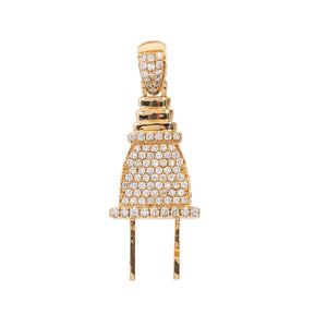 14K Yellow Gold Pendant with 1.96 CT Diamonds
