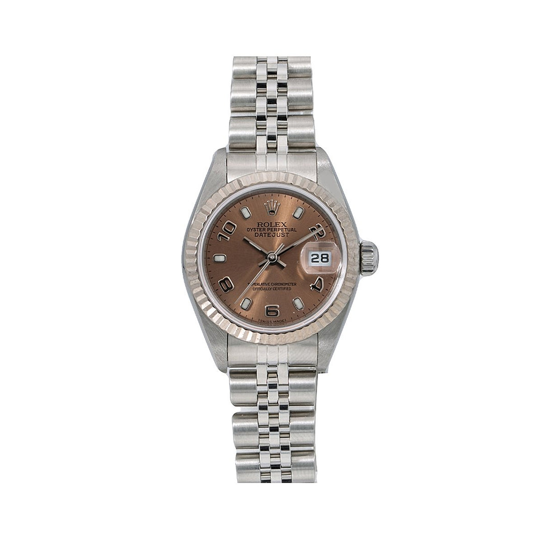 Rolex Datejust 79174 26MM Brown Dial With Stainless Steel Jubilee Bracelet