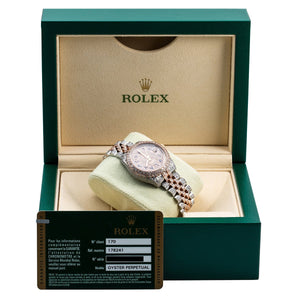 Rolex Datejust 178240 31mm Pink Champagne Dial with 8.75CT Diamonds