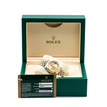 Load image into Gallery viewer, Two Tone Rolex DateJust 178243 31mm Champagne Dial with Diamond Hour Markers
