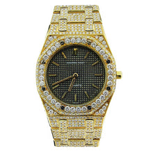 Load image into Gallery viewer, Audemars Piguet Custom Royal Oak Lady 18k Yellow Gold Flooded in Diamonds
