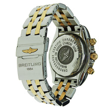 Load image into Gallery viewer, Breitling Chronomat Evolution Stainless Steel & Yellow Gold with Blue Dial 44mm