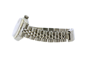 Rolex Datejust 26mm Stainless Steel Bracelet Black Roman Dial w/ Diamond Lugs