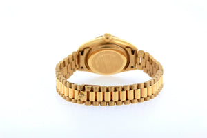 Rolex Datejust 26mm 18k Yellow Gold President Bracelet Blue Dial