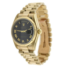 Load image into Gallery viewer, Rolex Day-Date Yellow Gold Roman Numeral Dial 36mm 18238