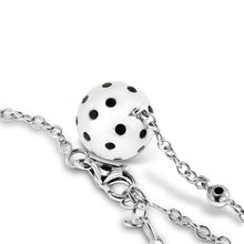 Load image into Gallery viewer, 18K White Gold Ball Necklace with Black Diamonds