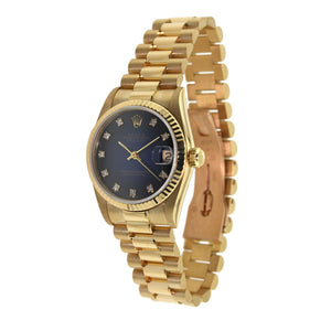 Rolex Oyster Perpetual Lady Datejust with Diamond Blue Dial 31mm 178278