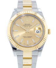 Load image into Gallery viewer, Rolex Datejust 41mm Yellow Gold and Stainless Steel Bracelet Champagne Dial 116333