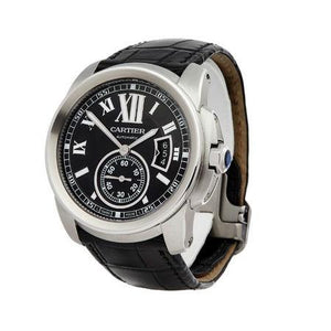 Cartier Calibre 45MM 3389 Stainless Steel with Leather Strap
