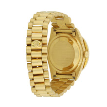 Load image into Gallery viewer, Gold Rolex Day Date President 36MM Red Roman Numerals Dial 18K Yellow Gold W/ Diamond Bezel