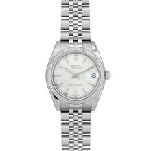 Load image into Gallery viewer, Rolex Stainless Steel Ladies Midsize Watch Jubilee Band Fluted Bezel 178274