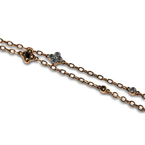 14K Gold Necklace With Black and White Diamonds 4.45CT