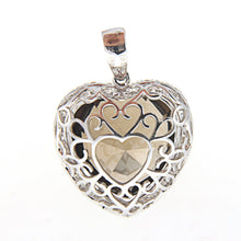 Load image into Gallery viewer, Topaz and Diamond Heart Pendant