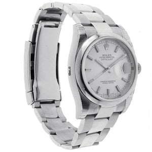 Rolex Oyster Perpetual Datejust Watch Stainless Steel Domed Bezel & Oyster Band 36MM 116200