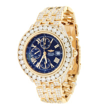 Load image into Gallery viewer, Breitling Windrider Crosswind 18K Yellow Gold Iced Out 44mm A13355