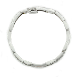14K White Gold Diamond Braclet with 1.50CT Of Round Cut Diamonds
