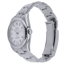 Load image into Gallery viewer, Stainless Steel Rolex Oyster Perpetual Air-King 34MM Silver Dial With Hour Markers 114200