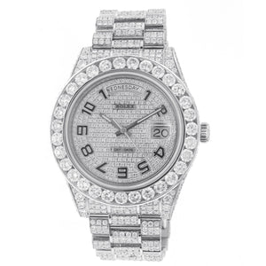 18K White Gold Rolex Day Date II 21839 41mm with 33.25 CT Diamonds