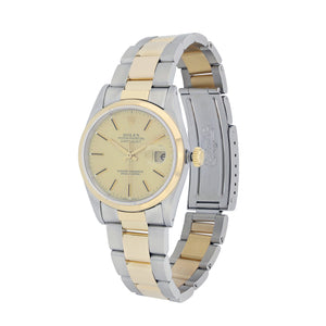 Rolex Datejust 36MM Stainless Steel & Yellow Gold 16233