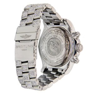 Breitling Super Avenger Stainless Steel Covered in Diamonds 48mm