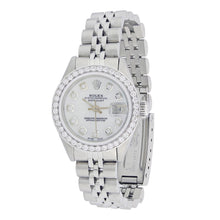 Load image into Gallery viewer, Vintage Rolex Lady Datejust Stainless Steel with Diamonds
