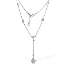 Load image into Gallery viewer, 18K White Gold Diamond By The Yard Necklace 3.16CT