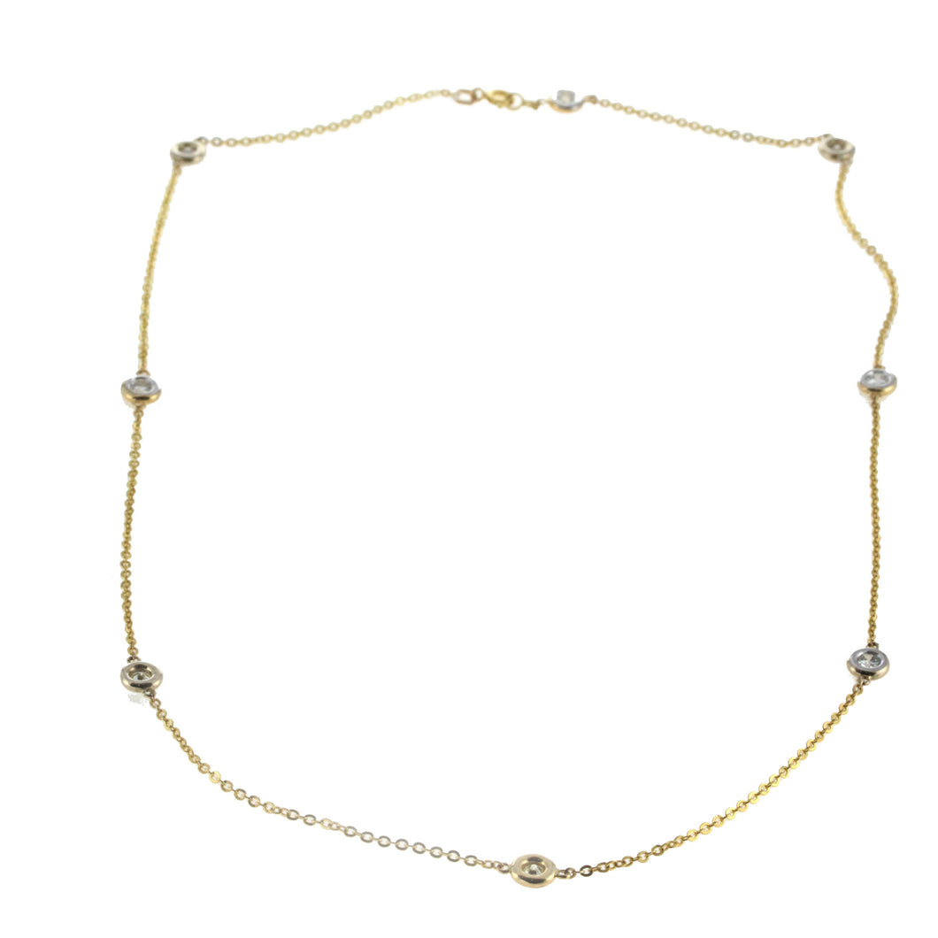 14K Yellow Gold Diamond by The Yard Chain 1.25CT