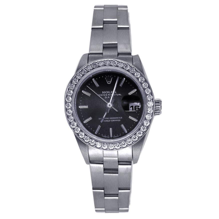 Rolex Lady Oyster Perpetual Date Watch Stainless Steel 26MM 6916