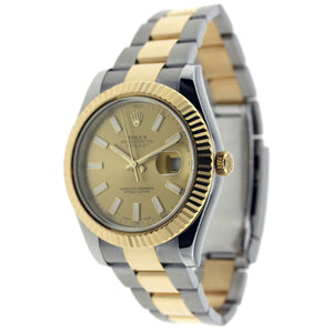 Rolex Datejust II Stainless Steel & Gold Oyster Stick Dial 41mm 116333