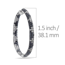 Load image into Gallery viewer, 14K White Gold Ladies Earrings With 4.65 CT Diamonds