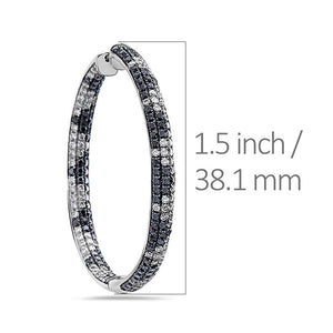14K White Gold Ladies Earrings With 4.65 CT Diamonds