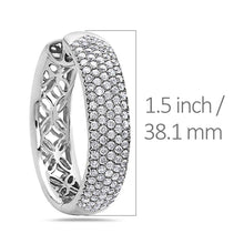 Load image into Gallery viewer, 14K White Gold Ladies Earrings With 6.48 CT Diamonds