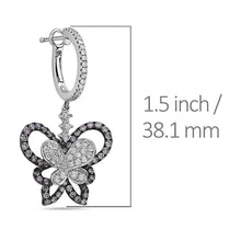 Load image into Gallery viewer, 14K White Gold Ladies Earrings With 2.10 CT Diamonds
