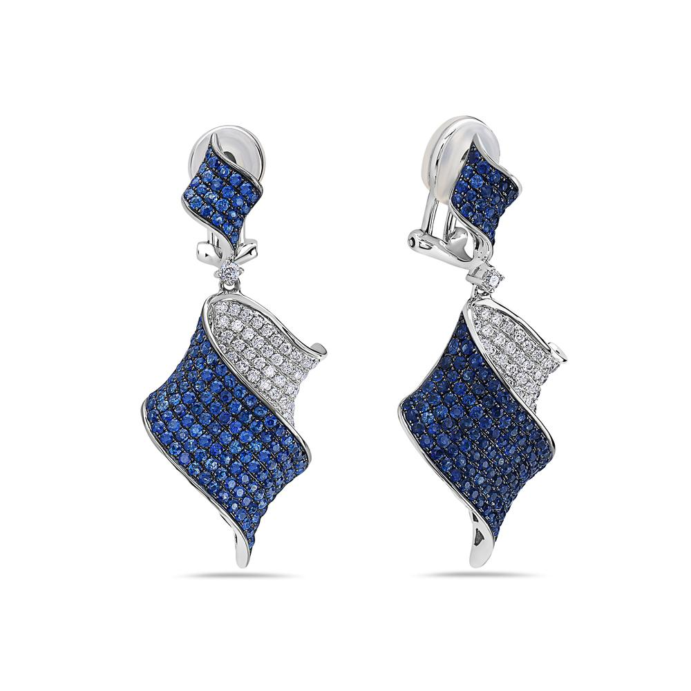 18K White Gold Ladies Earrings With 4.75 CT Diamonds