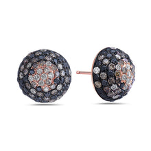 Load image into Gallery viewer, 18K Rose Gold Half Sphere Shaped  Ladies Earrings With  Diamonds