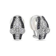 Load image into Gallery viewer, 18K White Gold Ladies Earrings With 1.96 CT Diamonds
