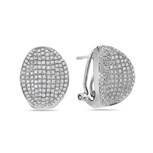 Load image into Gallery viewer, 18K White Gold Ladies Earrings With 1.68 CT Diamonds