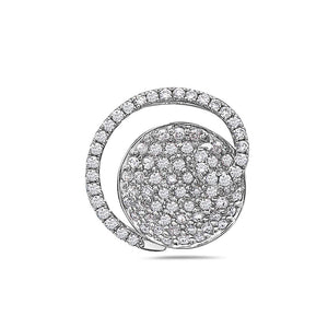 18K White Gold Eclipse Women's Pendant With 0.72 CT Diamonds