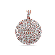 Load image into Gallery viewer, 14K Rose Gold Circle Pendant with 3.37 CT Diamonds