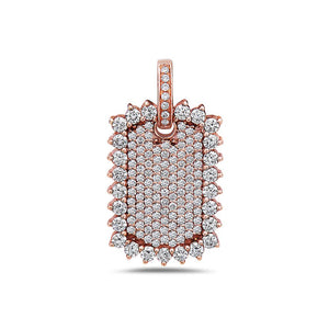 Rectangular Sunflower Pendant With 3.15 CT Diamonds available in Rose, Yellow and White Gold