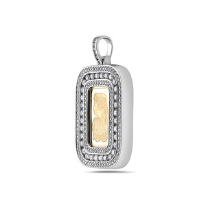 Men's 14K White Gold Fortuna Pendant with 3.20 CT Diamonds