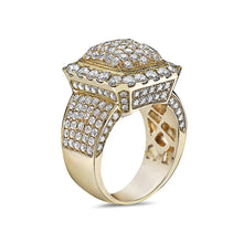 Load image into Gallery viewer, Men's 14K Yellow Gold Ring with 5.40 CT Diamonds