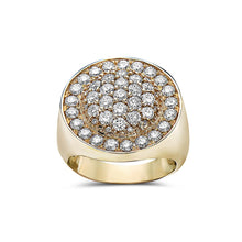 Load image into Gallery viewer, Men's 14K Yellow Gold Ring with 2.88 CT Diamonds