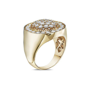 Men's 14K Yellow Gold Ring with 2.88 CT Diamonds